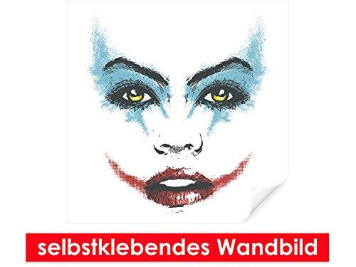 ebendes Wandbild Joker Face – leicht zu verkleben – Wallprint, Wallpaper, Poster, Vinylfolie mit Punktkleber für Wände, Türen, Möbel und alle glatten Oberflächen von Trendwände (Joker Face Make Up)