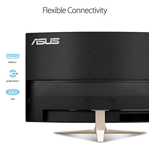 Asus VA327H 80,01 cm (31,5 Zoll) Curved Monitor (Full HD, VGA, HDMI, 4ms Reaktionszeit, Lautsprecher) schwarz/gold - 4