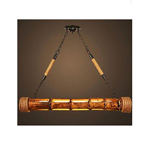 BJVB In legno di bambù lampadari canapa