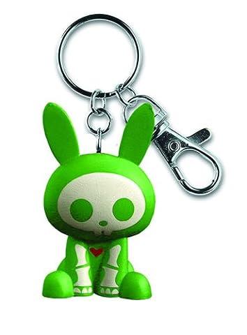 Skelanimals PVC Keychain - Green Jack ! Glow in the Dark Bones!