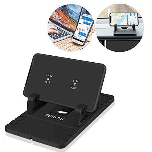 YousimanZ Vehicle Charger Vehicle Wireless Charger Desktop Handy Wireless Phone Wireless Charging Bracket, schwarz - Nimh-wireless-handy
