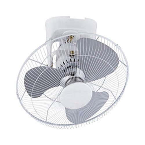 DHGGF Deckenventilator Haushalts-Deckenventilator-Schlafsaal Ultra-leiser 16-Zoll-Eisendachventilator,Weiß,16 Zoll