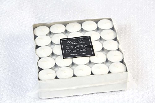 Maeva Tealight Acup White Unscented Everyday Candle - Pack Of 100