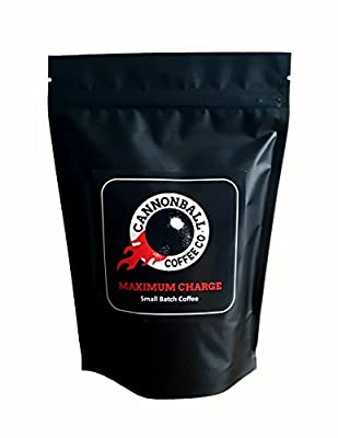 Maximum Charge - High Caffeine Coffee | Lab Certified World's Strongest Coffee | 100% AAA Single-Origin Robusta | Great-Tasting Medium Roast | High Caffeine Pre-Workout by Cannonball Coffee Co