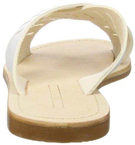 ESPRIT Damen Thea Perf CC Pantoletten Weiß (White)
