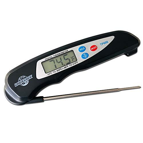 LavaLock Instant Read BBQ Fleisch Thermometer Smoker Pit Küche Schnell Digital Quick Read Pro Thermo Pen Faltsonde - Küche Kochen Grillen BBQ Smoker - Ein Thermometer Pen