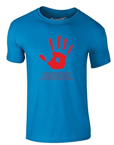 Brand88 - The Black Sacrament, Erwachsene Gedrucktes T-Shirt Azurblau