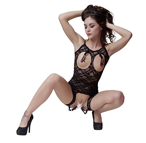 *Bad Kitty Body mit Klemmen, Schwarz – S/L, 147 g*