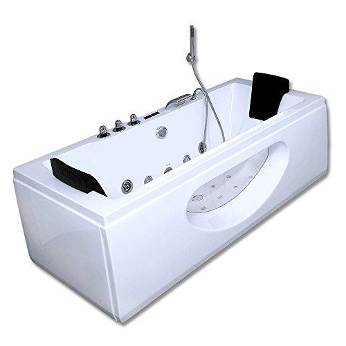 Home Deluxe - Whirlpool - Laguna M weiß - Maße: 180 x 90 x 55 cm - inkl. vielen Extras