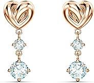 SWAROVSKI Women's Lifelong Heart Crystal Jewelry Collection, Rose Gold Tone & Rhodiu
