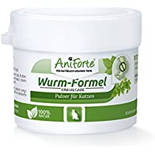 AniForte Wurm-Formel 25 g natürliche Einmalgabe für Katzen, Natur Pur, 100% Naturprodukt, Bei und Nach Wurmbefall