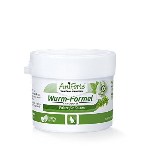AniForte Wurm-Formel 10 g Einmalgabe Naturprodukt für Katzen Test