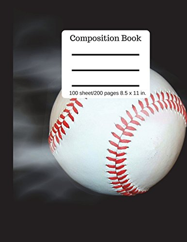 Composition Book  Fast Ball 100 sheet/200 pages 8.5 x 11 in.: Baseball Softball Cover Notebook College Ruled (Composition Notebook Journal) por Goddess Book Press