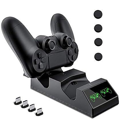 Cargador Controlador Mando PS4, KNONEW PS4 Esta...