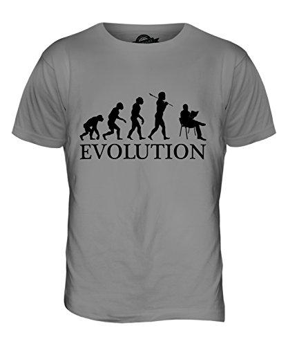 CandyMix Lesen Evolution Des Menschen Herren T Shirt Hellgrau