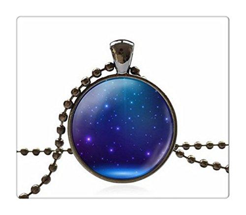 Bilder Einzigartige (Einzigartige Halskette Glas Cabochon Kette Halskette Dome Jewelry Light Shine Bild Anhänger Halskette)