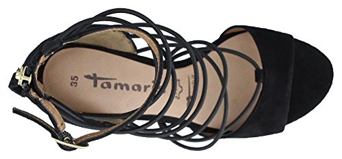 Tamaris 1-28347-26 Sandales Pour Femmes Schwarz