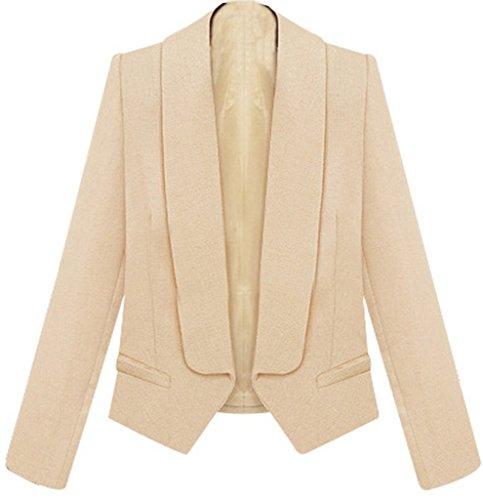 helan-damen-mode-slim-lange-armel-kurz-stil-ladies-kostum-aprikose-eu-40