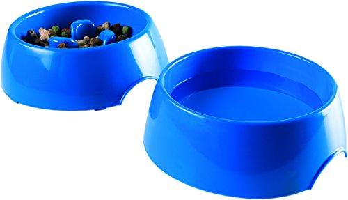 DSL AA Slow Feed Fressnapf für Hunde-2Stück Ohne Choke Hund Fressnapf-Set mit Hund Wasser Schüssel, Pet Aufblasen Stop Fressnapf-Slow Eating Fressnapf für Hunde