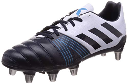 adidas Kakari (SG), Scarpe da Rugby Uomo, Blu (Aero Blue s18/Legend Ink/Shock Cyan), 44 2/3 EU