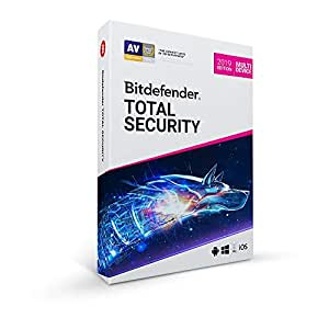 Bitdefender Total Security Multi Device 2019 5 Devices 1 Year Windows/MAC OS/IOS/Android Disc
