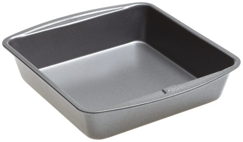 Good Cook 04017 786173391991 8 Inch x 8 Inch Square Cake Pan, 8 x 8 Inch, Grey Square Loaf Pan