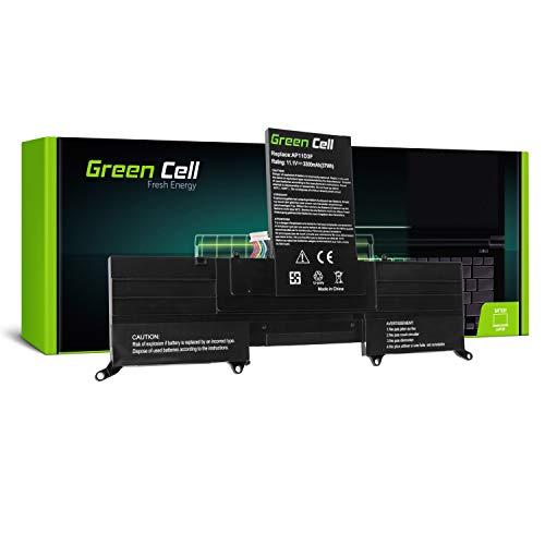 Green Cell AP11D3F Laptop Akku für Acer Aspire S3 S3-371 S3-391 S3-951 (Li-Polymer Zellen 3300mAh 11.1V Schwarz)