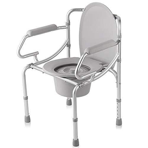 CC- Toilet chair Nachttisch WC/Aluminiumlegierung Ältere Schwangere Frau Bad Stuhl/Multifunktionsstuhl/Es kann bewegen Höhe Höhe Wc-Sitz Bad Stuhl -