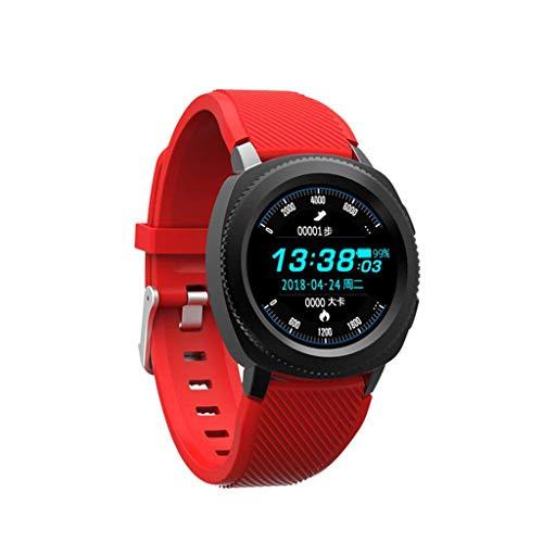 YSDHE Smart Uhr IP68 Schwimmen Schritt Zähler Übung Herzfrequenz Blutdruck Schlafüberwachung Anruf (Farbe : B)