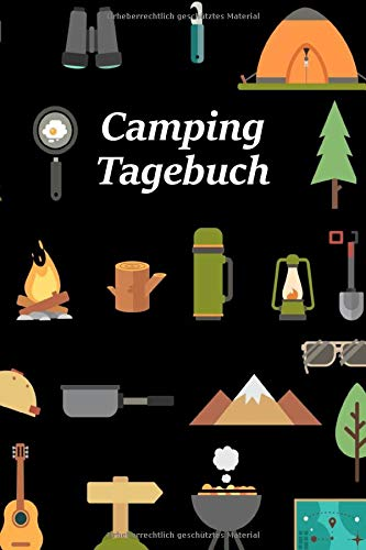 tiv Camping-Utensilien | Reisetagebuch für Trips mit dem Wohnmobil, Wohnwagen oder Zelt | 100 Seiten zum selber ausfüllen | ... | Journal mit tollen vorgefertigten Feldern ()