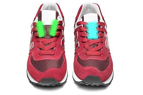Magnetischen Schnürsenkel innovatives System Clicks.life (GLOW grün) (Schuhe Flechte)