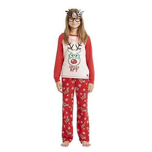 lafanzug Weihnachtsshirt Weihnachtshosen Set für die ganze Familie Rot Weihnachten Pyjama Set Nachtwäsche Damen Herren Kinder Weihnachts Langarmshirt (2T---100cm, Kinder) (Lustige Weihnachten-schlafanzüge Für Die Familie)