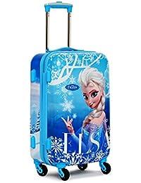 GAMME Disney Polycarbonate Frozen ELSA Blue 55CMs Kids Trolley Cabin Luggage(GD16RGT001)