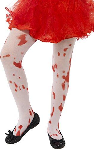 chen Strumpfhose mit Blutflecken, Alter: 6-12 Jahre, Weiß und Rot, 45623 (Zombie Halloween-mädchen)