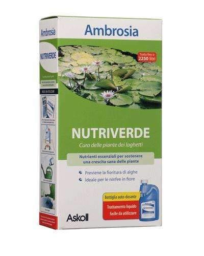 Askoll Ambrosia Nutriverde 250 Ml, Essenziale per una crescita sana delle piante