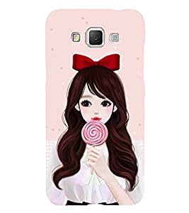 Cute Girl with Candy Hard Polycarbonate Designer Back Case Cover for Samsung Galaxy Grand 3 :: Samsung Galaxy Grand Max