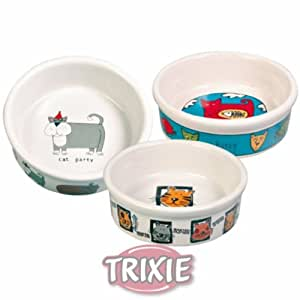Trixie Keramik, Katze Schüssel 0,2 l/ø 11 cm, weiß