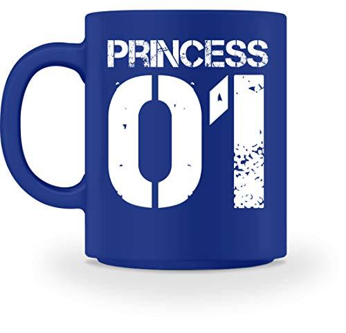 King Baby Kostüm Royal - Princess 01 Kaffeetasse Für Die Tochter Familie Partnerlook - Tasse -M-Royal Blau