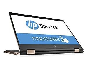 """HP Spectre x360 15-ch001ng Portatile da 15,6"""" 4K, 1.8GHz i7-8550U, 16 GB RAM DDR4, 512 GB SSD, GeForce MX150 2GB, Touch screen, Nero Argento, Ibrido (2in1) [Germania]"""