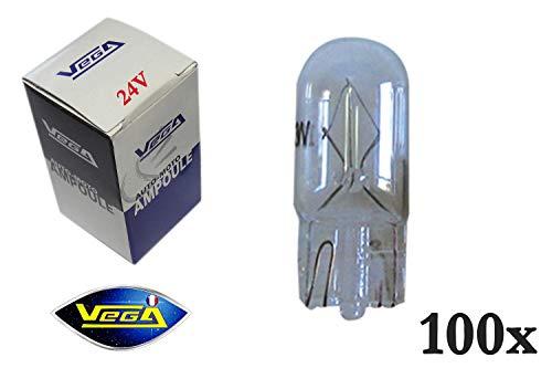 100 ampoules Vega® W5W T10 Halogène\