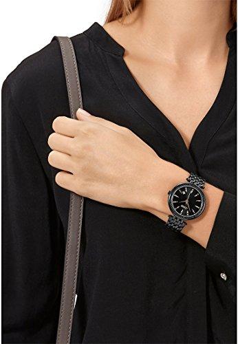 CHRIST times Damen-Armbanduhr Analog Quarz One Size, schwarz, schwarz -