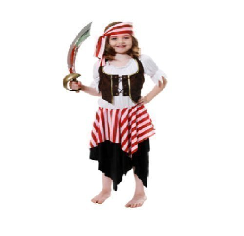 neue Kleinkind Kleinkind Mädchen Buccaneer Piraten Kostüm u54005