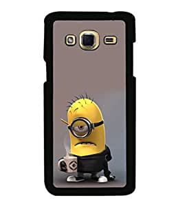 printtech Minions Coffee Working Back Case Cover for Samsung Galaxy J3 Pro
