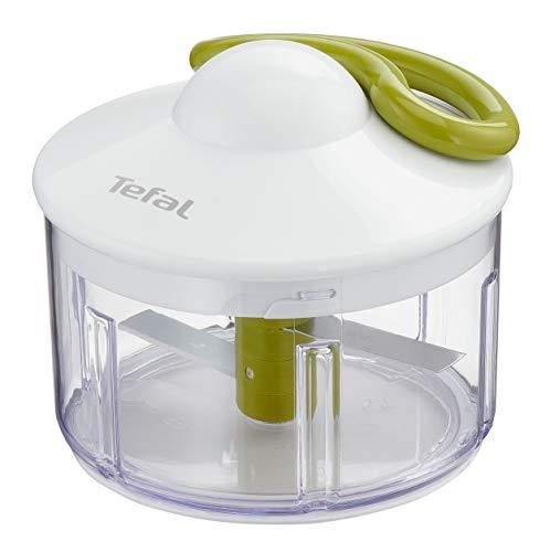 Tefal K13304 5-Sekunden-Zerkleinerer ohne Strom, Fassungsvermögen: 500 ml; Multizerkleinerer; Universalzerkleinerer für Gemüse, Obst, Zwiebeln, Nüsse, Knoblauch, Babynahrung, weiß/grün