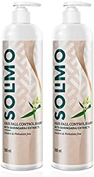 Amazon Brand - Solimo Hair fall Control Shampoo with Bhringraj Extracts, 500 ml (Pack of 2)