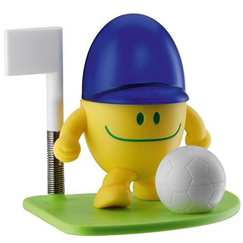 WMF McEgg Ball Eierbecher mit Salzstreuer, Kunststoff, Edelstahl Cromargan poliert, spülmaschinengeeignet, H 11cm, gelb