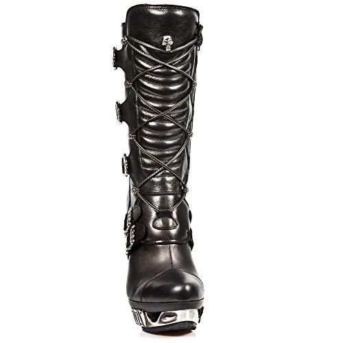 New Rock M.MAG006-S1 Alle Stiefel aus Leder Black
