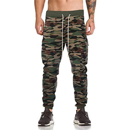 Herren Elastische Taille Gürtel Baumwolle Jogging Sweat Hosen Plus Size Mode Lange Sports Cargo Hosen Shorts mit Taschen Joggers Activewear Hosen (Männer Activewear Für)