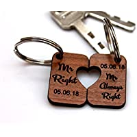 MadeAt94 Mr and Mr Gifts Gay Wedding Gift Keyring