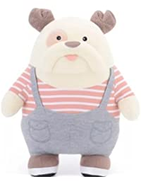 Imported & New 30 Cm Cute Cartoon Stuffed Grey Color Bulldog For Kids